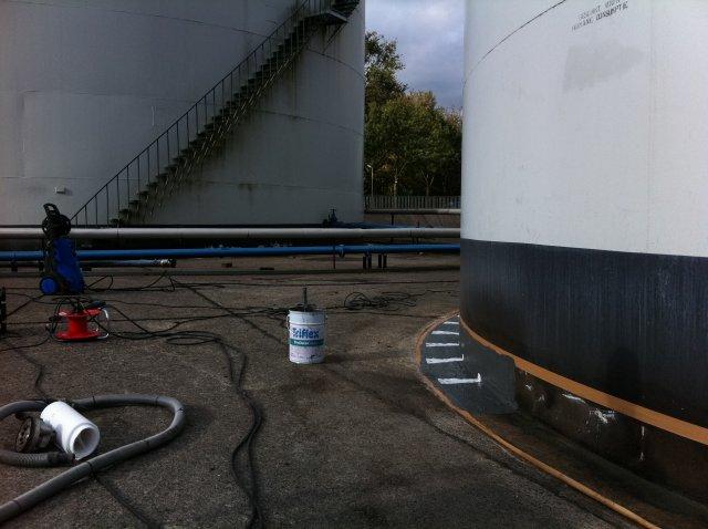 Vloeistofdicht afwerken tank terp aansluiting2