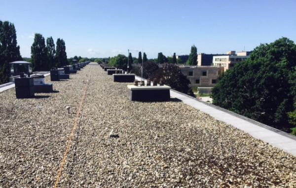 Schoorstenen afdichten dak flat Bilthoven